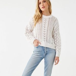 (2/$22) Forever 21 Cable Knit Drop-Sleeve Sweater